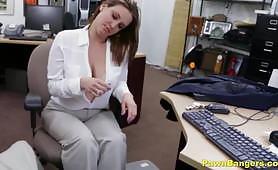 Pawn Shop Porn-Big Boobs Mom Spreads Her Legs For Cash